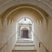Bourges (Cher) L'Hôtel Lallemant, passage intérieur
