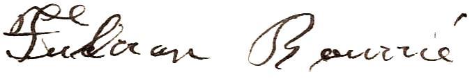 Signature de Fulcran en 1920