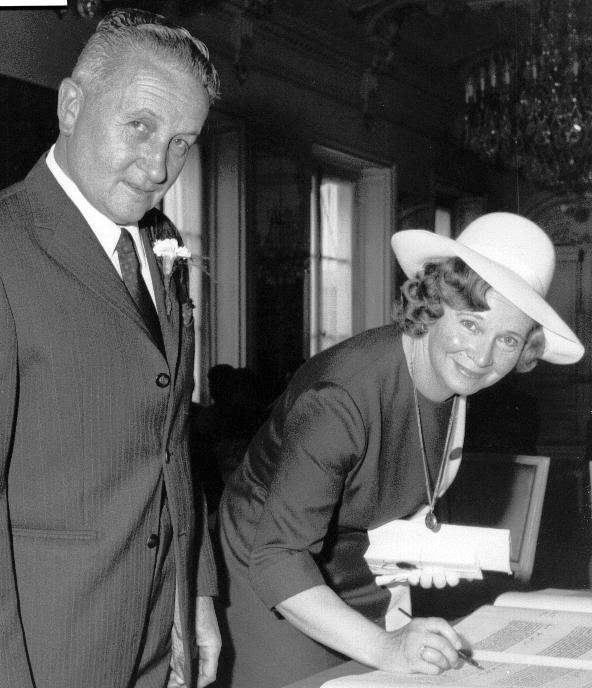 Marcelle et Maurice Bourrié en 1970