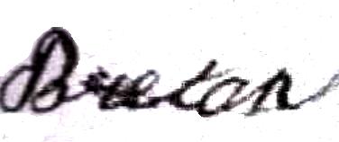 Breton Anaïs (1857/1907), sa signature en 1882