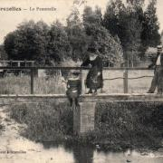 Brézolles (28) La passerelle CPA
