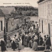 Brézolles (28) Le Marché CPA