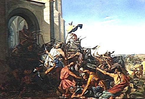 Brissarthe, mort de Robert IV le Fort, tableau Henri Lehmann 1837