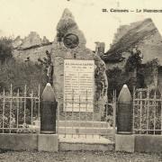 Caisnes oise cpa monument aux morts