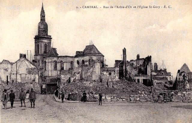 Cambrai 59 l eglise saint gery 1914 1918 cpa