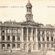 Cambrai 59 l hotel de ville en ruines 1914 1918 cpa