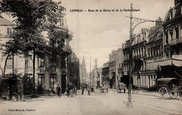 Cambrai 59 la rue de la herse cpa