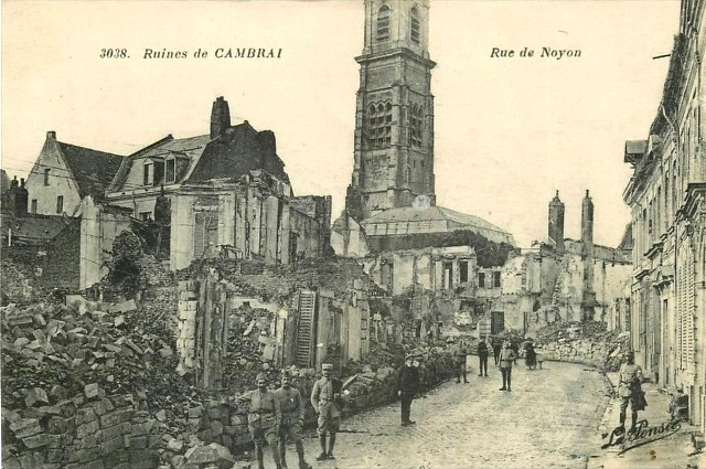 Cambrai 59 la rue de noyon 1914 1918 cpa