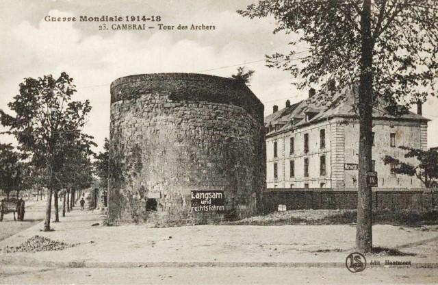 Cambrai 59 la tour des archers cpa