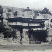 Cambrai 59 les grottes du jardin public cpa