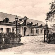 Carlepont 60 le chateau avant 1914 les ecuries cpa