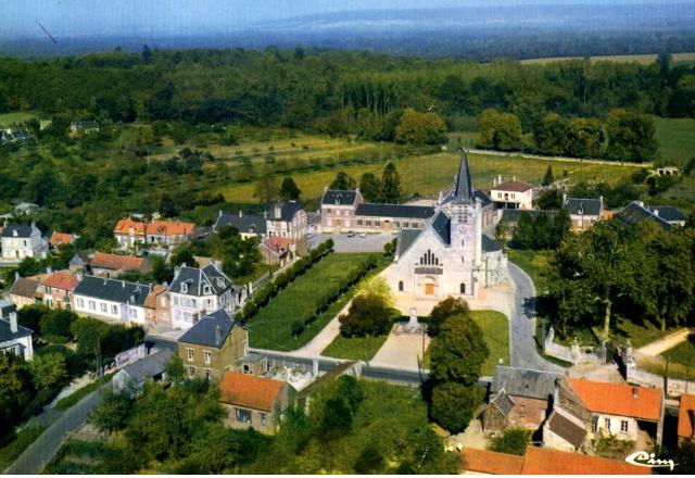 Carlepont 60 vue generale vers 1980