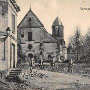 Carlepont oise cpa l eglise saint eloi apres 1914 1918