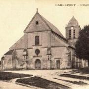 Carlepont oise cpa l eglise saint eloi avant 1914