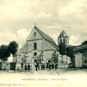 Carlepont oise cpa l eglise saint eloi et la place avant 1914