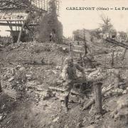 Carlepont oise cpa la ferme des loges 1914 1918