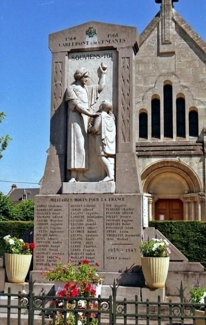 Carlepont oise le monument aux morts