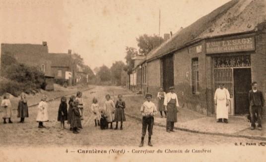 Carnieres 59 chemin de cambrai cpa