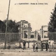 Carnieres 59 le chateau salez en ruines cpa