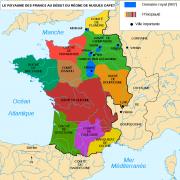 Le royaume des Capétiens en 987