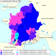 Le Royaume des Francs en 548