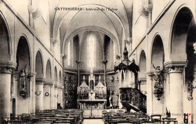 Cattenieres 59 l eglise saint martin interieur cpa
