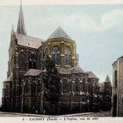 Caudry 59 la basilique sainte maxellende cpa