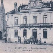 Caudry 59 la mairie kommandantur cpa