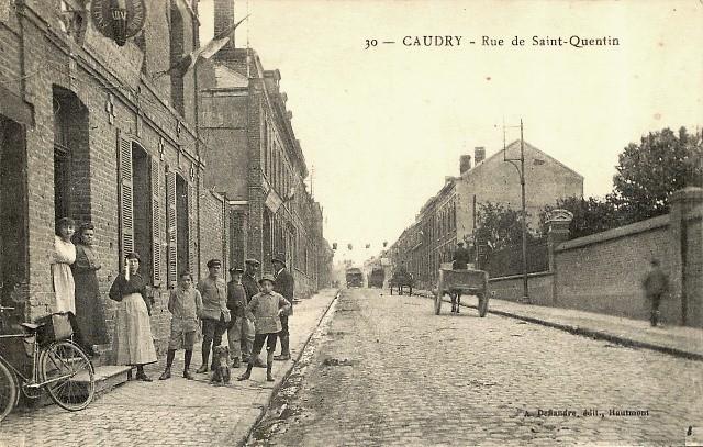 Caudry 59 la rue de saint quentin cpa