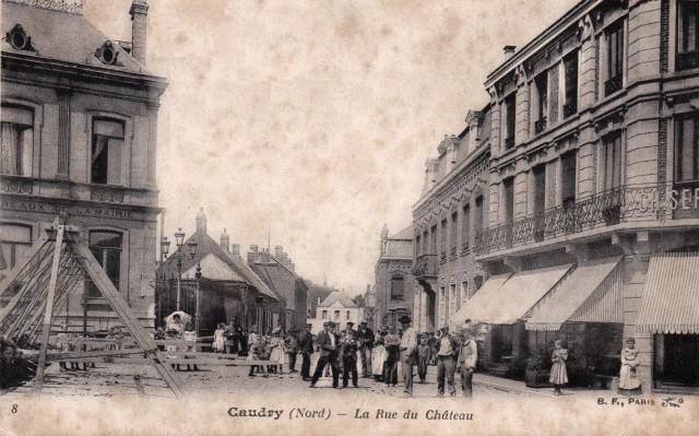 Caudry 59 la rue du chateau cpa