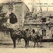 Caudry 59 le chateau la cour 1914 1918 cpa