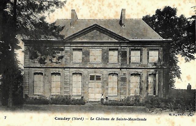 Caudry 59 le chateau sainte maxellende cpa