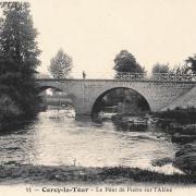 Cercy-la-Tour (Nièvre) Le pont sur l'Alène CPA