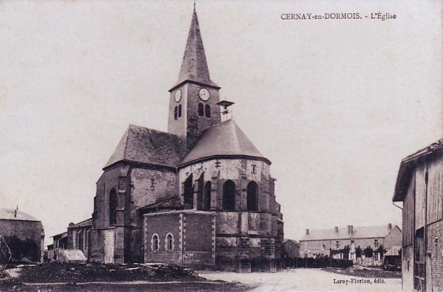 Cernay-en-Dormois (51) L'église CPA