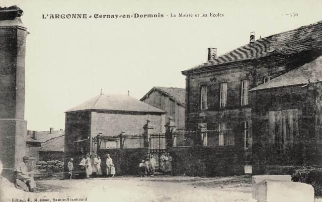 Cernay-en-Dormois (51) La Mairie et les écoles CPA