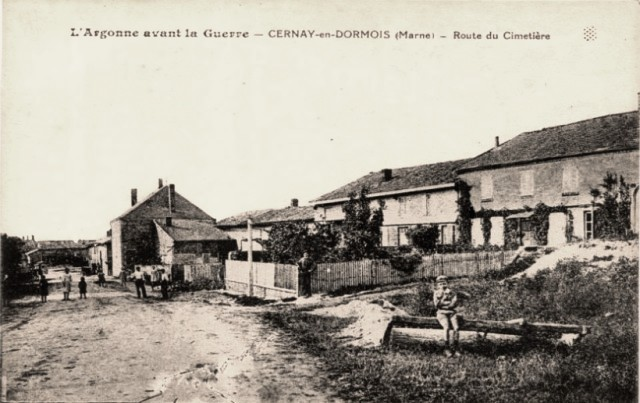 Cernay-en-Dormois (51) La route du cimetière CPA