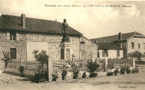 Cernay-en-Dormois (51) Le Monument aux Morts CPA