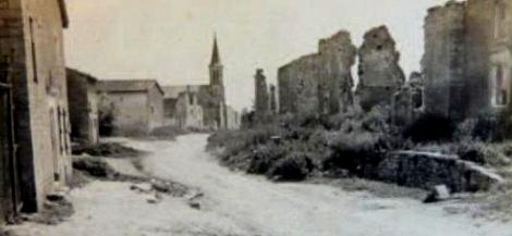 Cesse (Meuse) Ruines 1914-1918 CPA