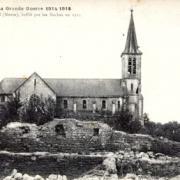 Cesse (Meuse) L'église et ruines 1914-1918 CPA
