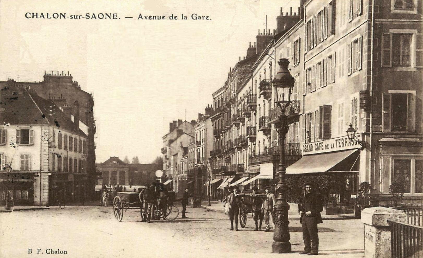 Chalon-sur-Saône (71) Avenue de la Gare CPA