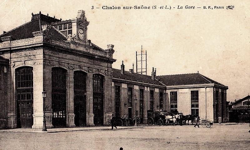 Chalon-sur-Saône (71) Gare CPA