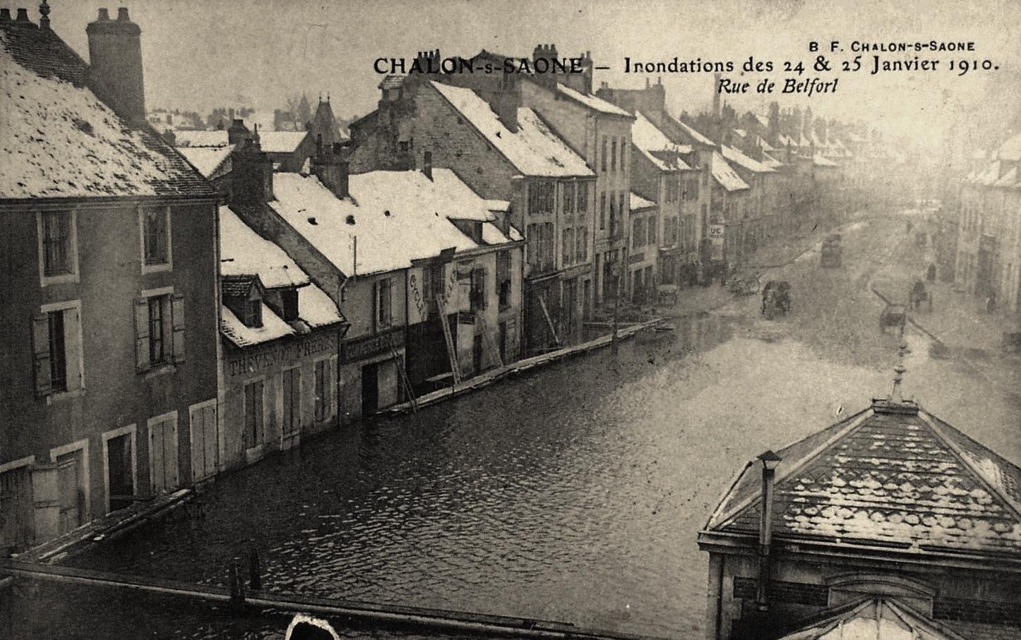 Chalon-sur-Saône (71) Inondations 1910 CPA