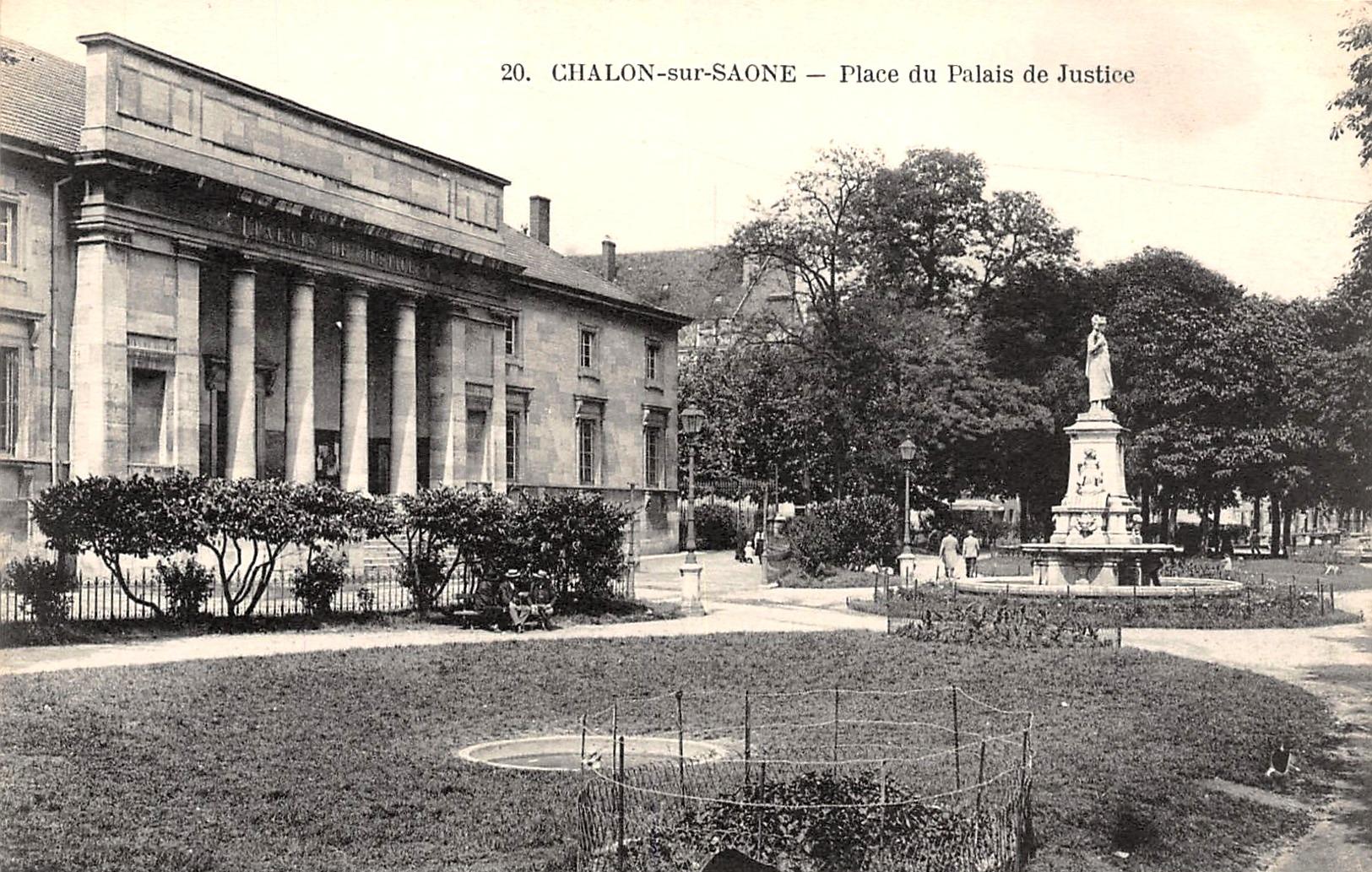 Chalon-sur-Saône (71) Palais de Justice CPA