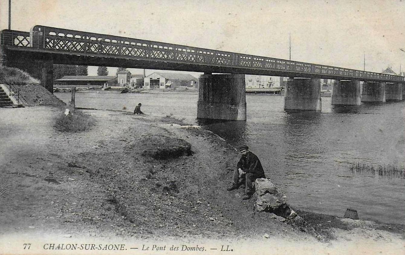 Chalon-sur-Saône (71) Pont des Dombes CPA
