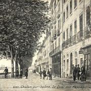 Chalon-sur-Saône (71) Quai des Messageries CPA