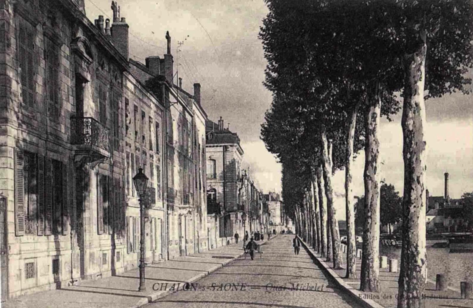 Chalon-sur-Saône (71) Quai Michelet CPA