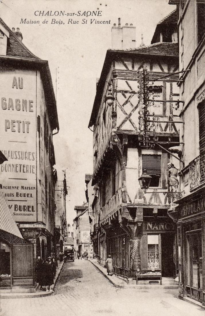 Chalon-sur-Saône (71) Rue Saint-Laurent CPA