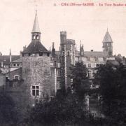 Chalon-sur-Saône (71) Tour Saudron et beffroi CPA