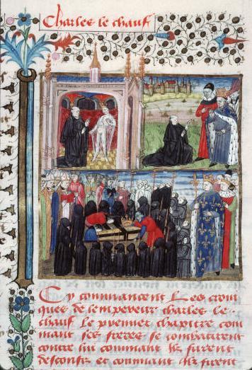 Charles II dit le Chauve, arrivée de ses ossements à Paris
