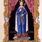 Charles III dit le Simple, son père